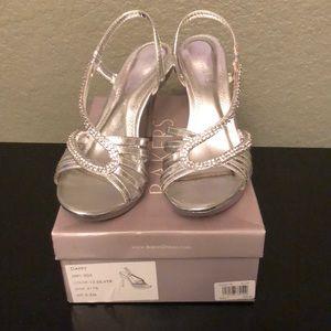 "Bakers ""Daffy"" Silver heels 5.5"